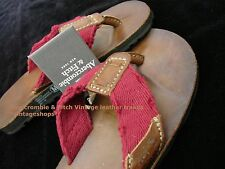 Abercrombie & Fitch vintage leather flip flops/sandals NWT authentic items