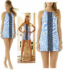 $198 Lilly Pulitzer Annabelle Bay Blue Yacht Sea Rope Lace Shift Dress