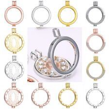 Chic Mi My Coin Holder Crystal Round Locket Pendant Fit Necklace 35mm Jewellery