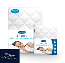 Luxury Quilted Polycotton Mattress Protector Cover 25cm Deep All Bed Sizes