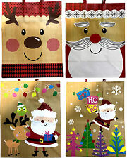 12xChristmas Gift Bags Xmas Presents Kraft Glitter or Foil Paper Bags 3 Sizes