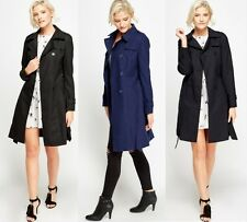 NEW LADIES BELTED DOUBLE BREASTED TRENCH MAC JACKET COAT UK 8 10 12 14 16 18