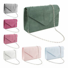 Women Ladies Bridal Party Evening Prom Envelope Clutch Bag Handbag Purse