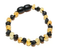 Genuine RAW Baltic Amber Baby Anklet Bracelet Mixed Beads 5.9 - 6.3 in