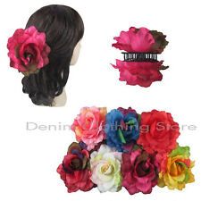 6pcs Flower Rose Jaw Hair Clip Claw Double Sided Style Petals Pin Updo Lot Gift