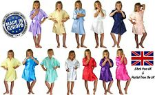 Childrens Personalised Satin Silky Wedding Robe / Dressing Gown - Xmas Gift Idea