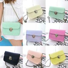 Women Pu Leather Mini Bag Fashion Chain Shoulder Bag Crossbody Messenger Bag