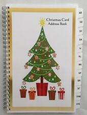Christmas Card Address Book List A-Z TABS 8 yr Tracker Personalized Gift Tree