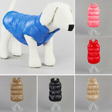Winter Pet Dog Puppy Cute Thermal Coat Buttoned Down Vest Jacket Pet Apparel New
