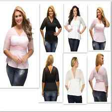 Plus Size Summer Womens Fashion Women Blouse Pretty Peplum Mesh Club Wear Tops