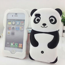 3D Panda Soft Silicone Protective Back Case Cover Skin For iPhone 4S 5 5S Beamy
