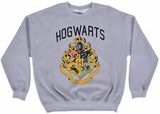Harry Potter Crewneck Sweater Hog Warts Gray Pullover Mens Fleece Authentic LG