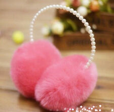 2016 Cute Pearl Princess Winter Earmuffs Earmuffs Ear Earlap Warmer Headband