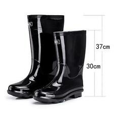 Mens Black Waterproof Rain Rubber garden Boots Galoshes Wellies casual high shoe