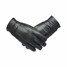 Genuine Leather Womans Soft Fleece Lined Warm Winter Stylish Driving Gloves