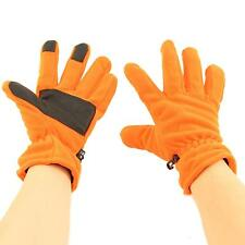 Men's Winter Thinsulate 3M Thick Polar Fleece Warm Grip Hazard Gloves Orange