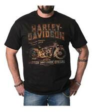 Harley-Davidson Men's Distressed Classic Dealer Short Sleeve T-Shirt, Black