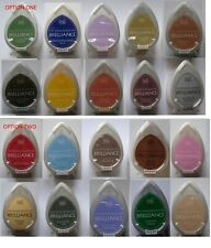 Tsukineko BRILLIANCE Dew Drop INK PAD Set of 10 different colours ( 2 choices)