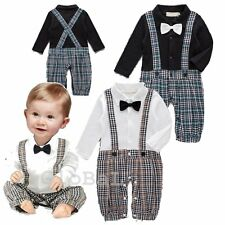 Baby Boy Wedding Christening Tuxedo Formal Party Suit Outfit Clothes NEWBORN-18M