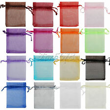 7cm x 9cm Organza Bags Jewelry Pouches Wedding Party Xmas Favor Gift Candy Decor