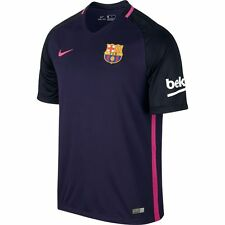 Nike FC Barcelona Season 2016 - 2017 Away Soccer Jersey Purple Pink Kids - Youth