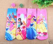 Lot Cartoon Princess Kids Socks 3 Size Cotton Warm winter Knee-Highs socks C483