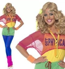 FANCY DRESS LADIES LETS GET PHYSICAL 80's CLUBBING COSTUME (hanging)