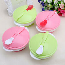 Baby Feeding Training Bowl Temperature Sensing Spoon Suction Cup Tableware Set