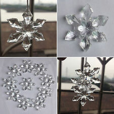 Christmas Snowflakes Ornaments Festival Party Xmas Tree Hanging Decoration Decor