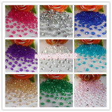 1000x 8mm 2ct Acrylic Diamond Confetti Wedding Party  Decoration Table Scatters