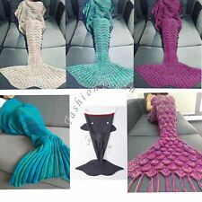 Handmade Crocheted Mermaid Tail Blanket Super Soft Warm Blanket Christmas Gifts