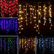 3.5M Icicle Hanging Curtain String Lights Fairy LED Christmas Wedding Xmas Party