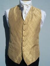GOLD SILK WEDDING DRESS SUIT WAISTCOAT IDEAL CHRISTMAS PRESENT 36 38 40 42 44