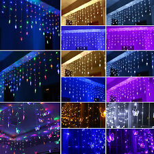 LED Curtain String Light Fairy Lamp Star Butterfly Hanging Christmas Party Decor