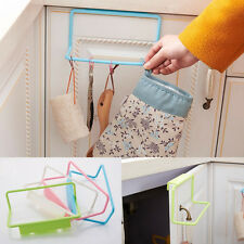 Hanging Holder Organizer Towel Rack Hanger Bathroom Kitchen Cabinet Cupboard