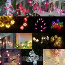 Various 10 LED Outdoor Battery Powered String Light Christmas Party Fairy Lamp