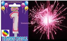 Happy Birthday Cake Number Sparkler or number Candle Cupcake Party decoration