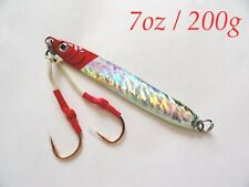 1-10 Pieces Knife Jigs 7oz /200g Red Vertical Butterfly Fishing Lures