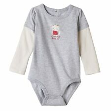 """Jumping Beans 3 6 9 Months """"Little Sis"""" Long Sleeve Bodysuit Baby Girl Clothes"""