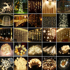 LED String Lights Fairy Christmas Wedding Party Indoor Outdoor Decor Warm White