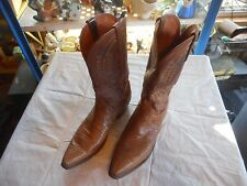 Nice Men's Size 11 Lucchese 1883 Light Brown Lizard Skin Cowboy Boots Narrow Toe