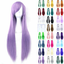 new 80cm Fashion Full Wig Long Straight Wig Cosplay Party Costume hair wigs