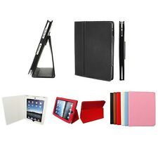 Synthetic Leather Skin Case Cover Pouch Protector Kickstand For Apple iPad 1 1st