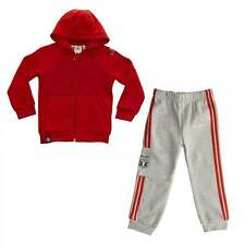 Adidas Performance Infants Manchester United Hooded Track Suit (Scarlet/Grey)