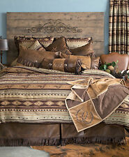 Brown Mustang  5 Piece Comforter Set with Drapes Option - FREE SHIPPING