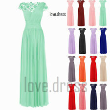 STOCK Hot Sale Chiffon Formal Prom Ball Bridesmaid Evening Party Dress Size 6-22