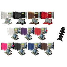Credit Card Holder ID Wallet Case Cover Flip Pouch+Cable Wrap For iPhone 5 5S