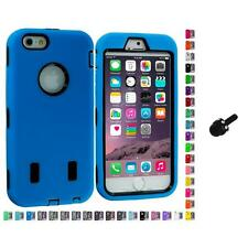 For Apple iPhone 6 (4.7) Hybrid Armor Case Cover LCD Accessories Mini Stylus