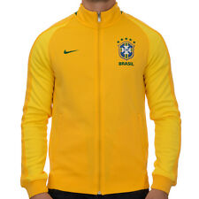 Nike Brazil Authentic Soccer N98 Track Jacket - Yellow
