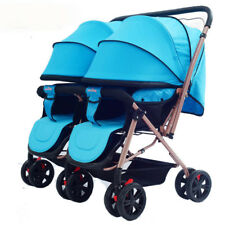 Foldable Double baby Strollers High-view Twin Suspension pushchair Portable pram